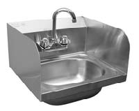 Hand Sink With Splash Guard